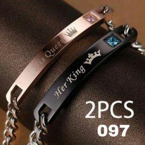 King & Queen matching bracelets